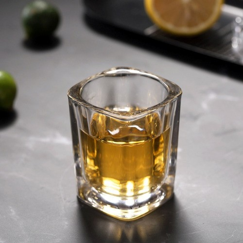 Kit 6 Copo Vidro Aperitivo Bebida Alcoólica Porta Vela 50ml