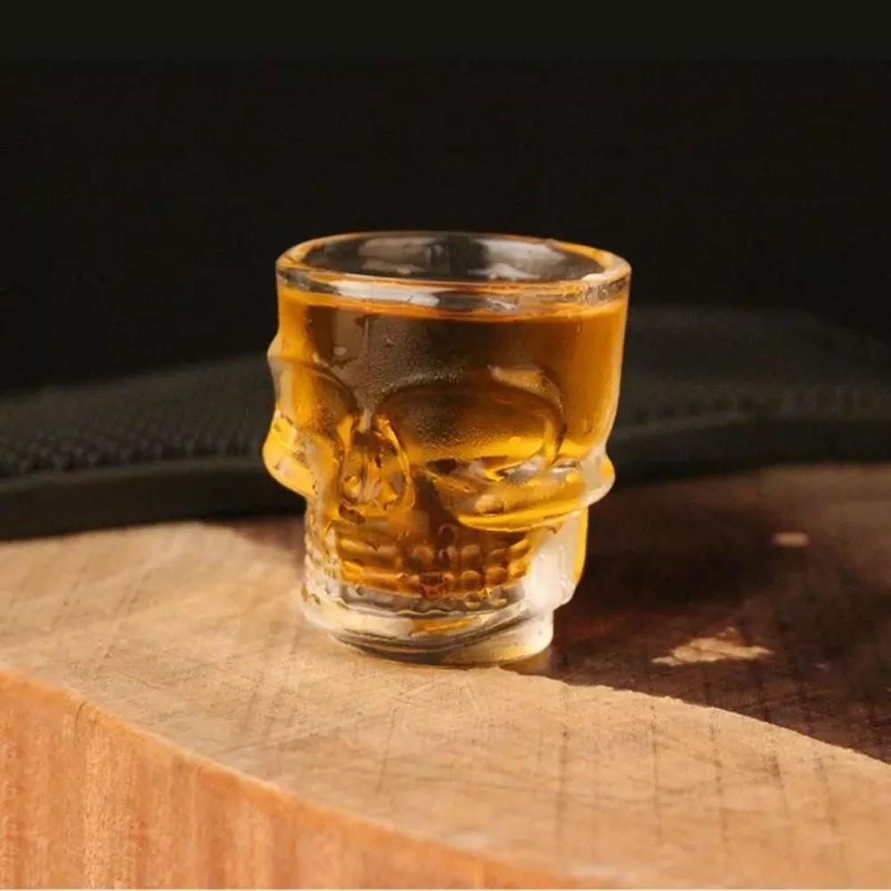 Kit 6 Copos De Shot Caveira Tequila Dose Whisky 50ml