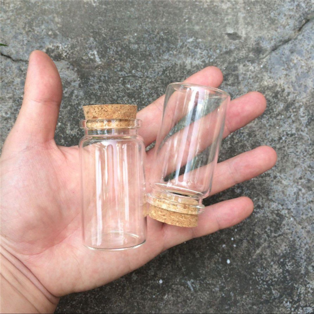 Kit 6 Frascos De Vidro Com Rolha Lembrancinha 50ml
