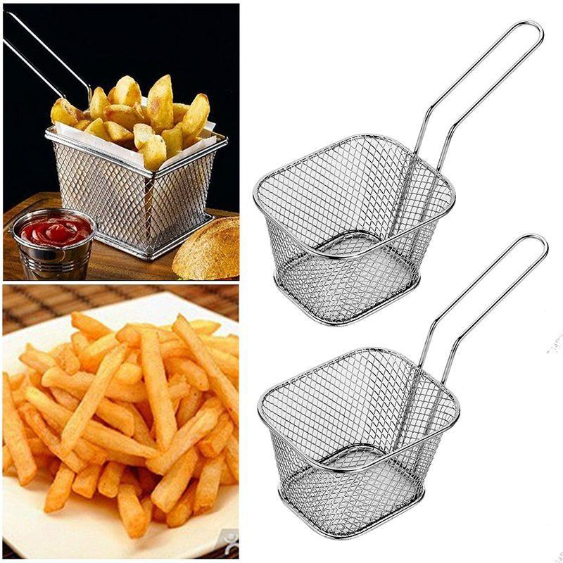 Kit 6 Mini Cestos Batata Frita Porções Frangos Restaurante