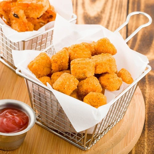 Kit 6 Mini Cestos Batata Frita Porções Frango Restaurante