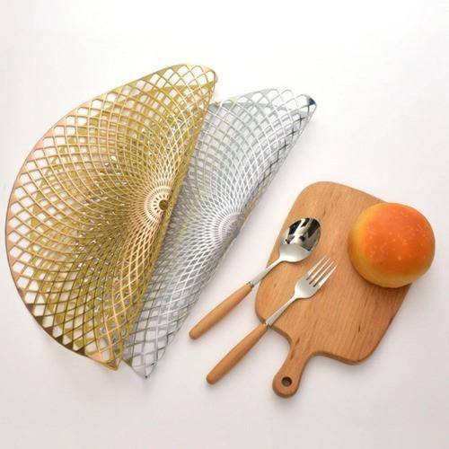 Kit 6 Sousplat Luxo Redondo Dourado Para Decoração Mesa Prato