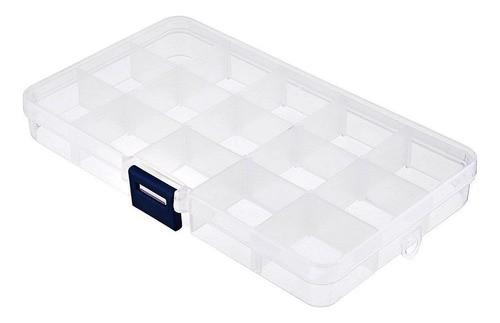 Kit 8 Caixa Organizadora Multiuso 15 Divisórias Moduláveis