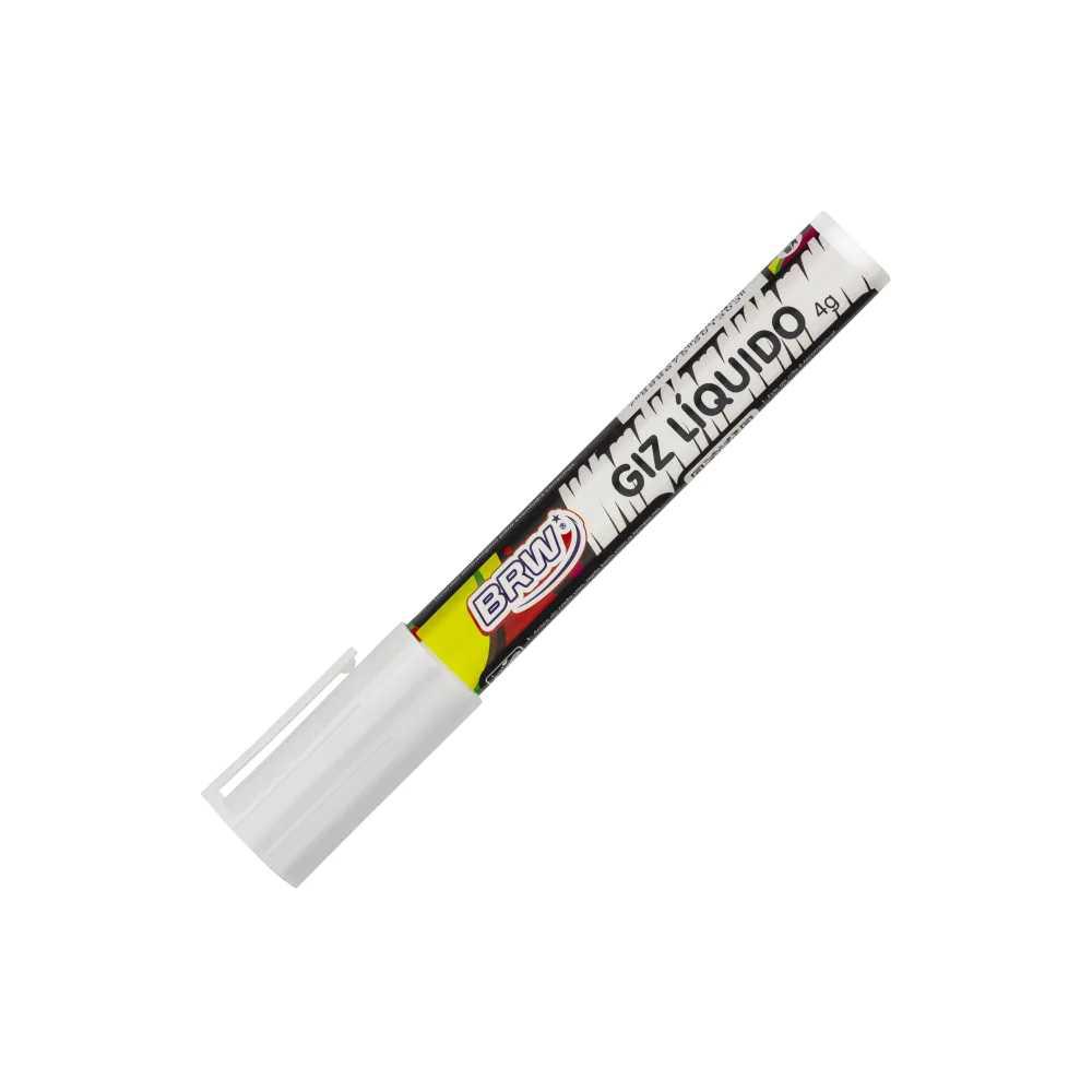 Kit Giz Líquido Branco E 8 Etiquetas Adesivas Potes Tempero