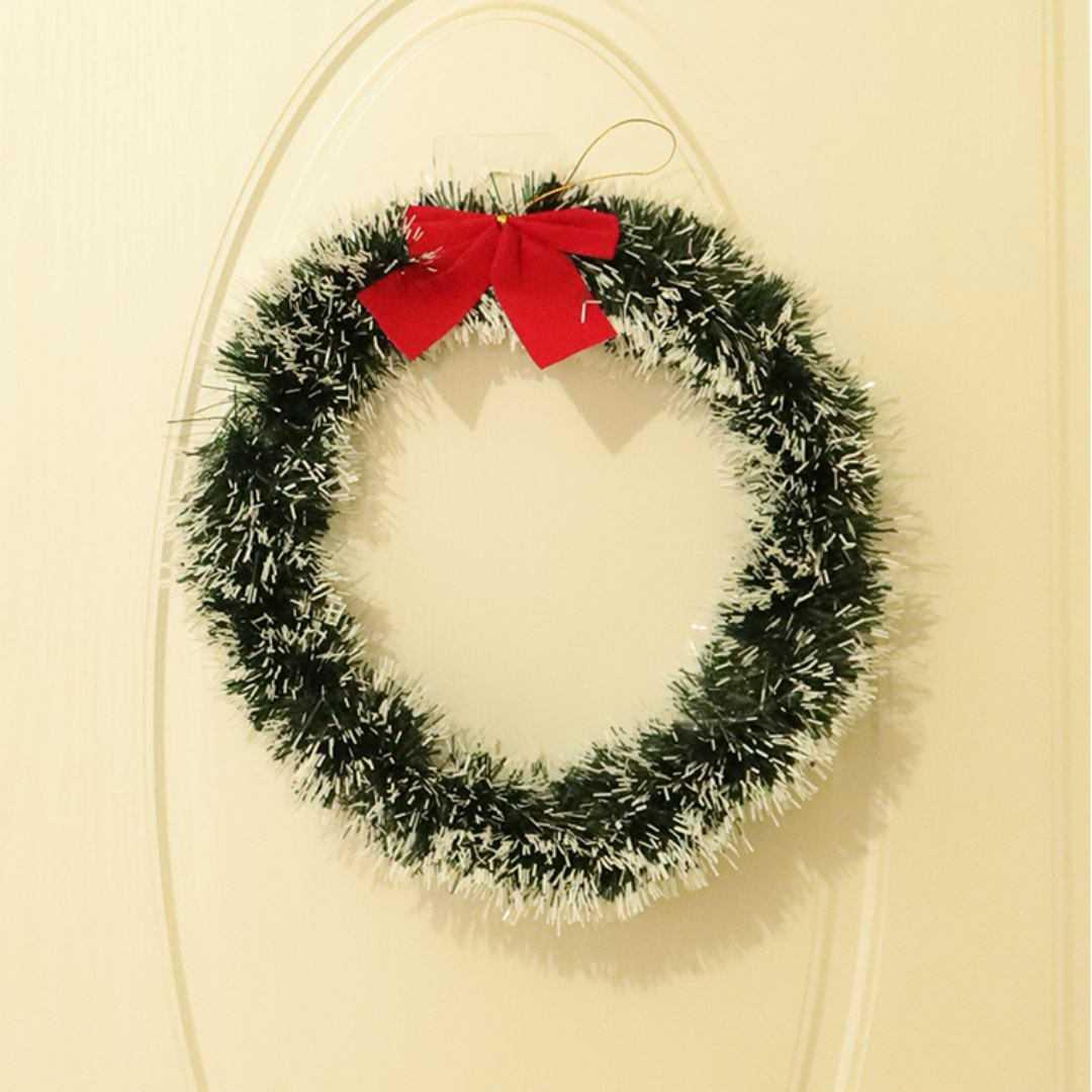 Kit Guirlanda E 5 Festão Nevado Enfeite Decoração De Natal