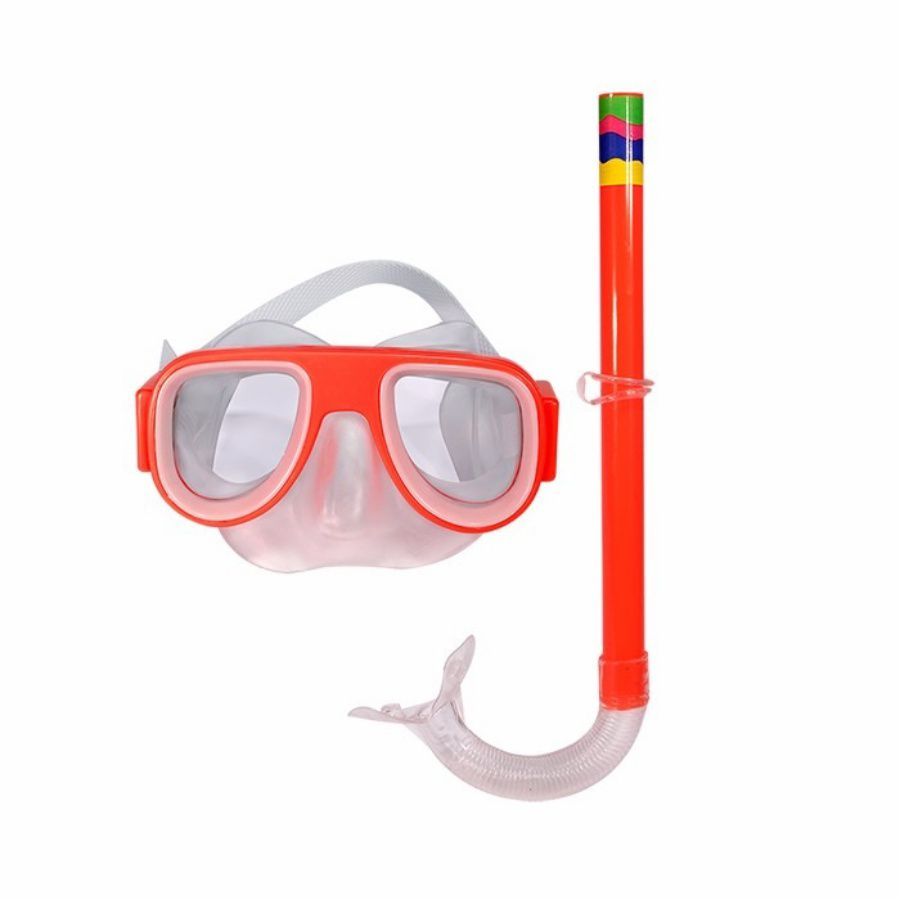 Kit Mergulho Snorkel Mascara Infantil Laranja Natação Praia