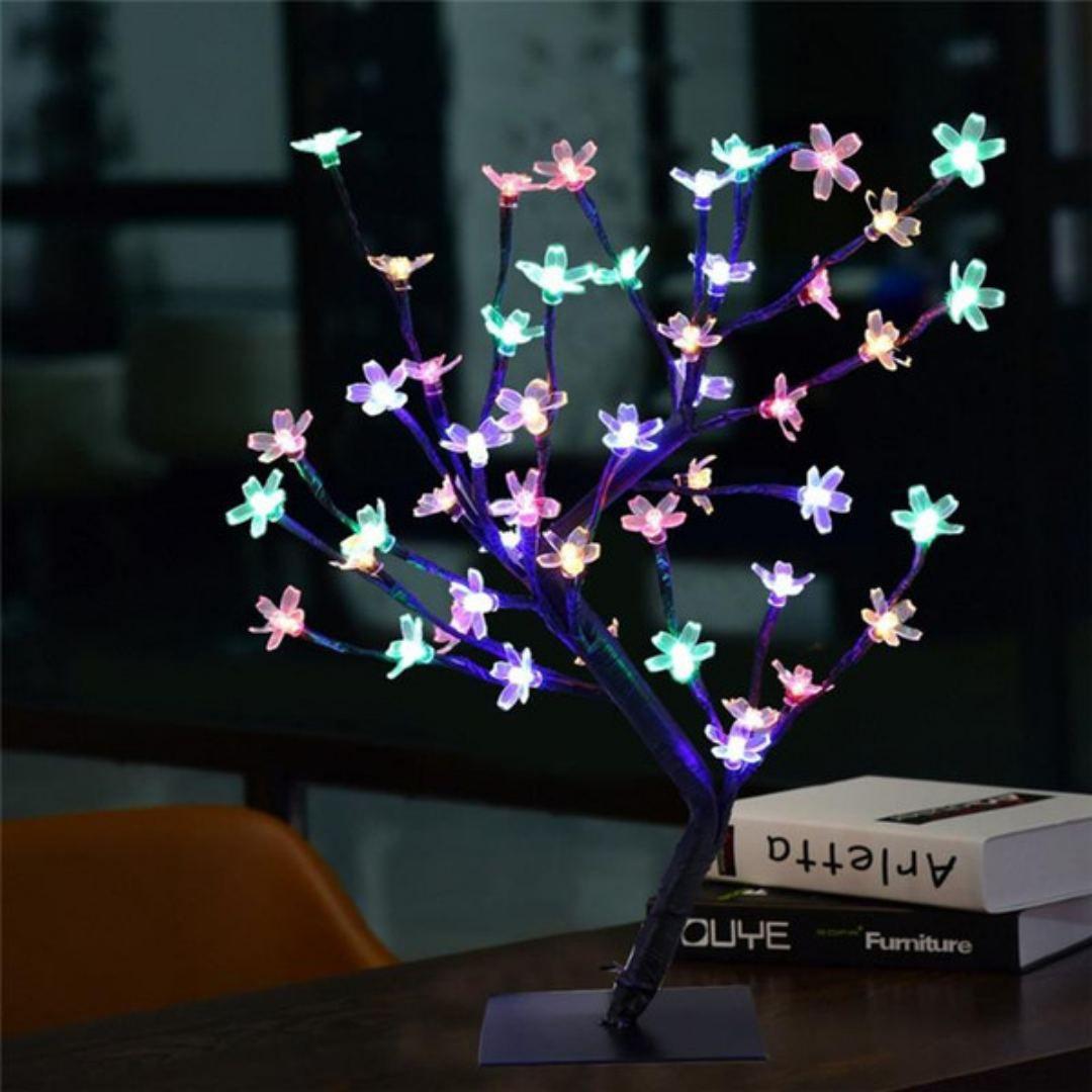 Luminária Árvore Cerejeira 28 Led Natal Decoração 220v