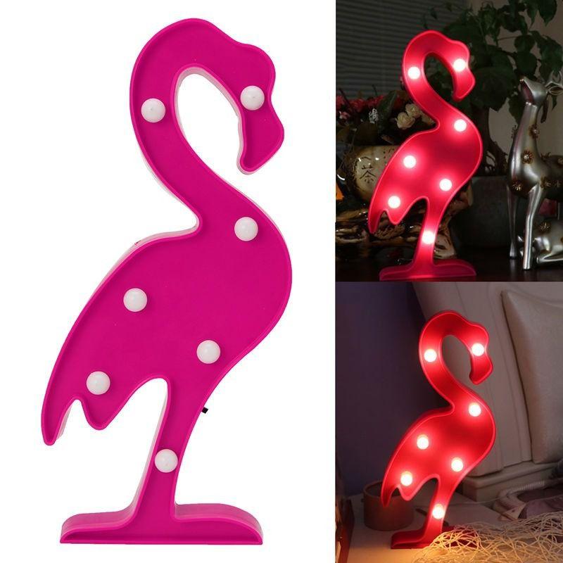 Luminária de Led Flamingo Abajur Mesa Parede Decoração