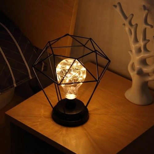 Luminária De Mesa Diamante Preto Sem Fio