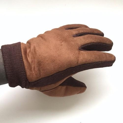 Luva De Inverno Masculino Adulto Lã Quentinha Da Moda Marrom