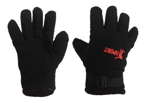Luva De Lã Masculina Preta Acolchoada Para Inverno Frio Moto