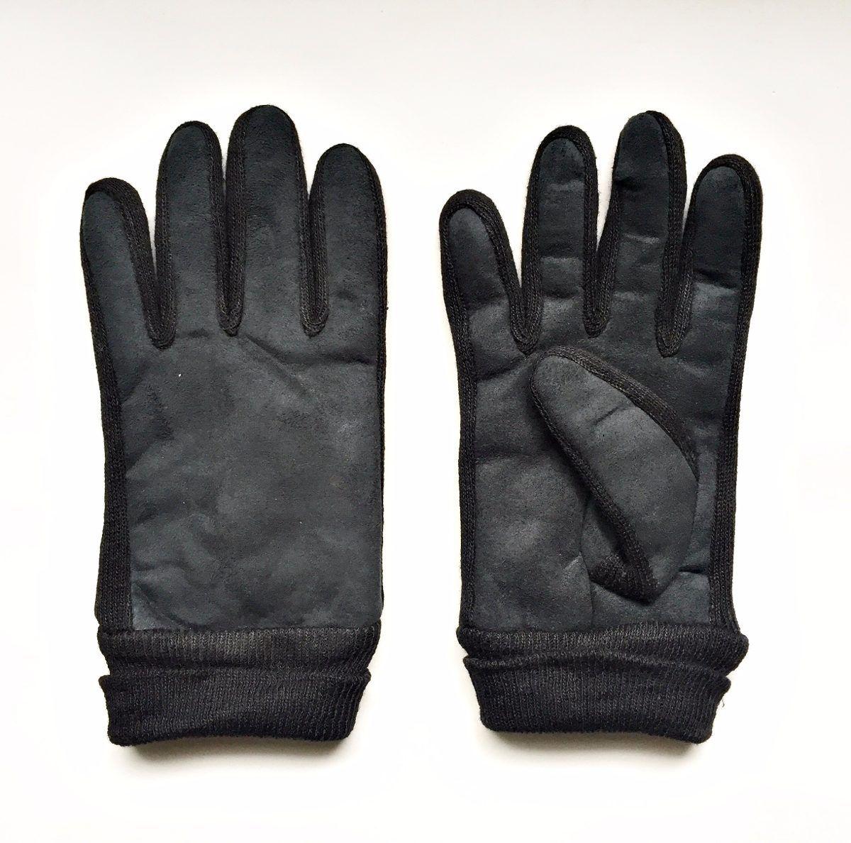 Luva De Lã Masculina Preta Super Estilosa Para Inverno Frio