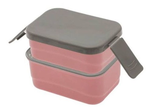 Marmita Plástica Prática Fitness Lancheira Pequena Rosa