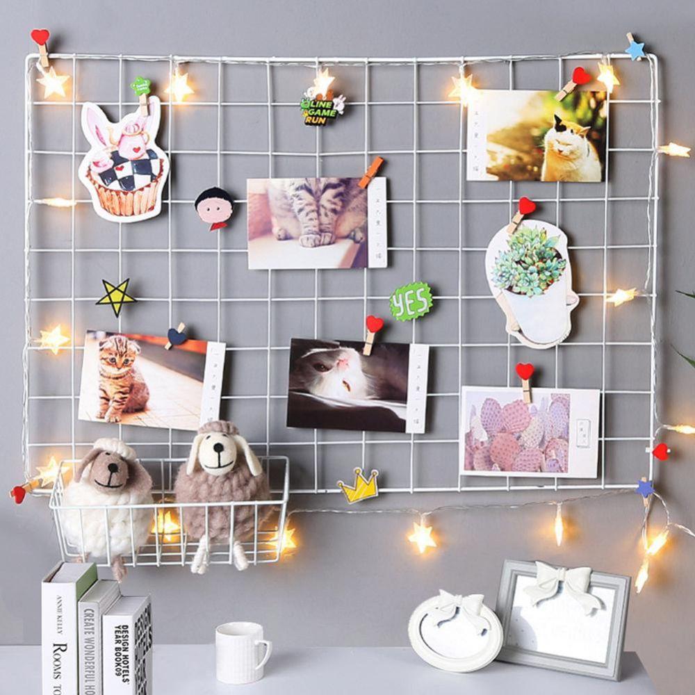 Memory Board Aramado Preto Mural De Fotos Branco 38x38 Cm