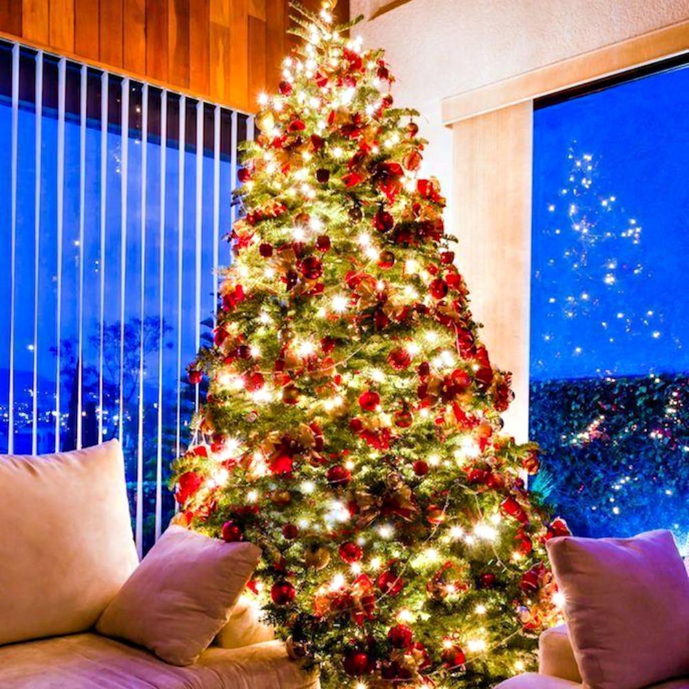 Pisca Pisca Branco Decorativo Árvore De Natal 400 Leds