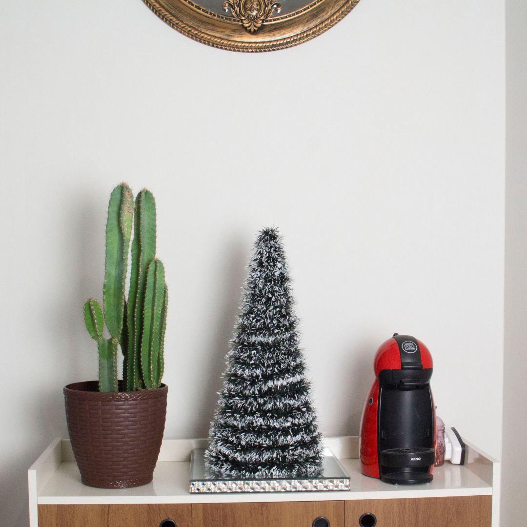Mini Arvore De Natal Pinheiro Nevado Verde 50cm Atura