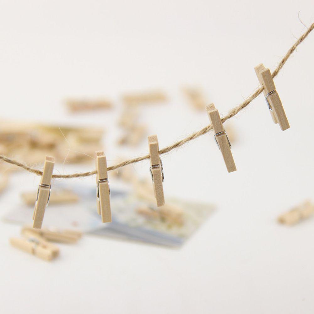 Mini Prendedores Cru Pregadores De Bambu  Lembrancinha 25un