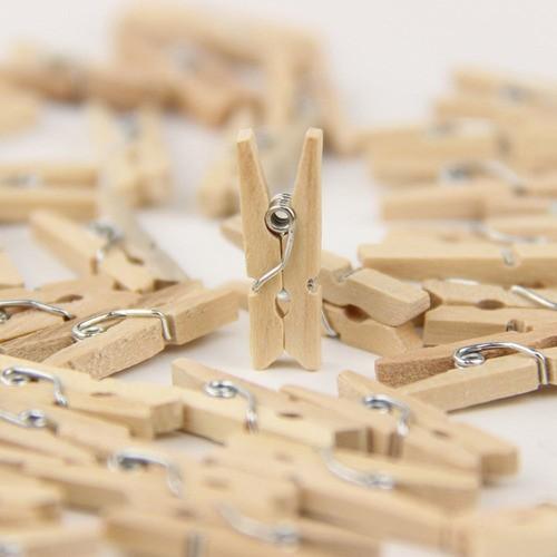 Mini Prendedores Cru Pregadores De Bambu  Lembrancinha 50un