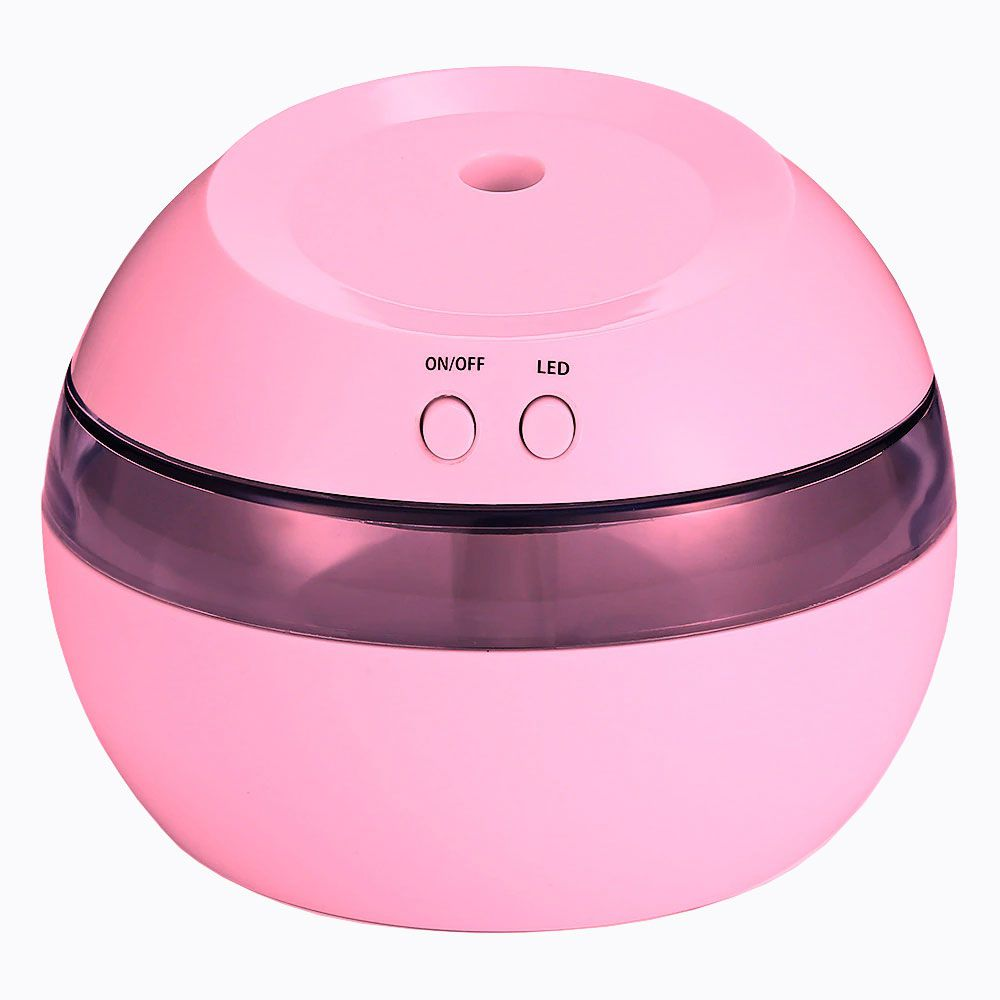 Mini Umidificador De Ar Usb Portátil Com Abajur Luz 300ml