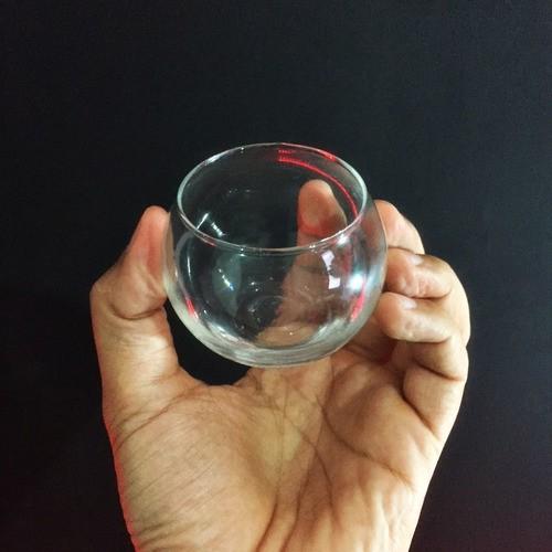 Mini Vaso Castiçal Aquário De Vidro 100ml Decoração