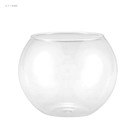 Mini Vaso Vasinho Aquário Redondo De Vidro 400ml Mesa
