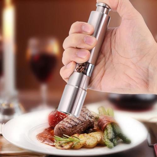 Moedor Manual De Sal E Pimenta Em Aço Inoxidável Gourmet