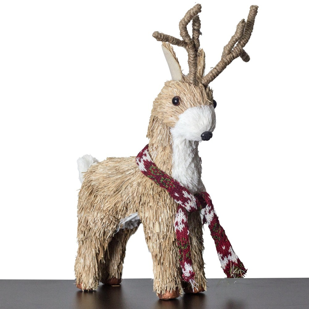 Rena De Palha Enfeite Decorativo De Natal Decoração Natalina