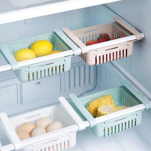 Organizador Ajustável Cozinha Geladeira Multiuso Verde