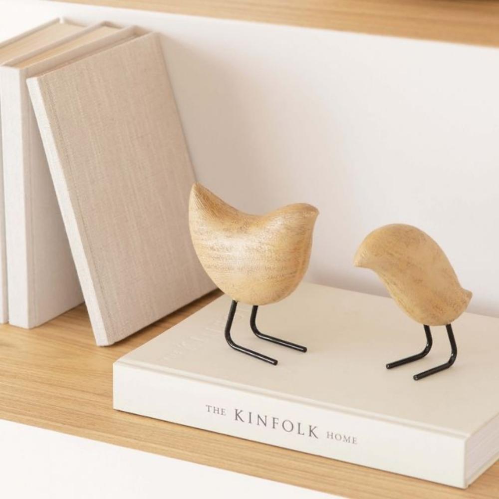 Pássaro Decorativo Decoração Escandinavo Poliresina 12,5Cm