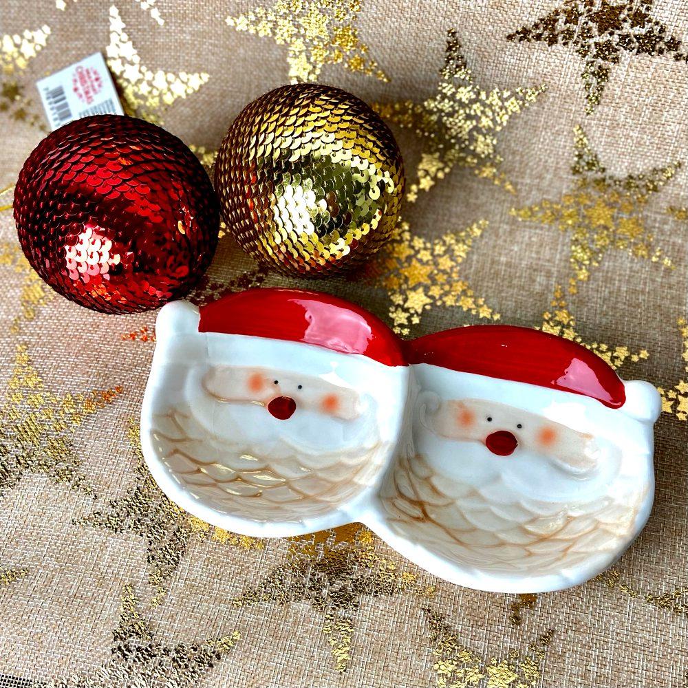 Petisqueira De Cerâmica Mesa Natalina Decoração De Natal