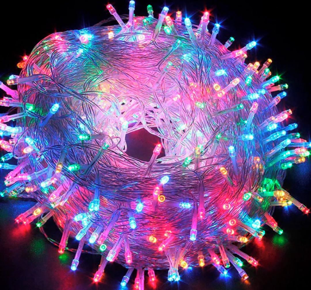 Pisca 300 Lâmpadas 8 Funções Natal 220v + Brinde 12 Laços