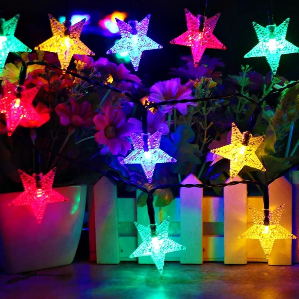 Pisca Pisca Colorido Estrela Decorativo Enfeite Natal Árvore