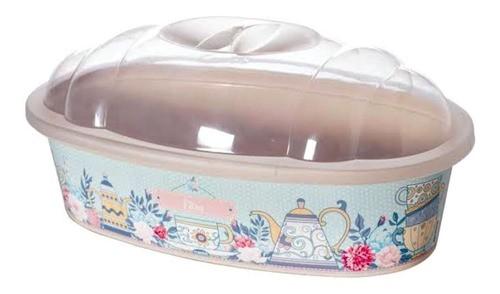 Porta Pão de Plástico com Tampa Café da Manhã 4,75 Litros