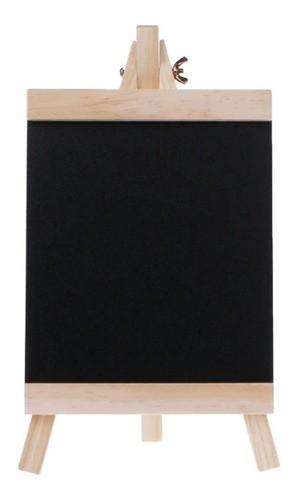 Porta Recados Lousa Quadro Negro Com Suporte De Madeira 34Cm