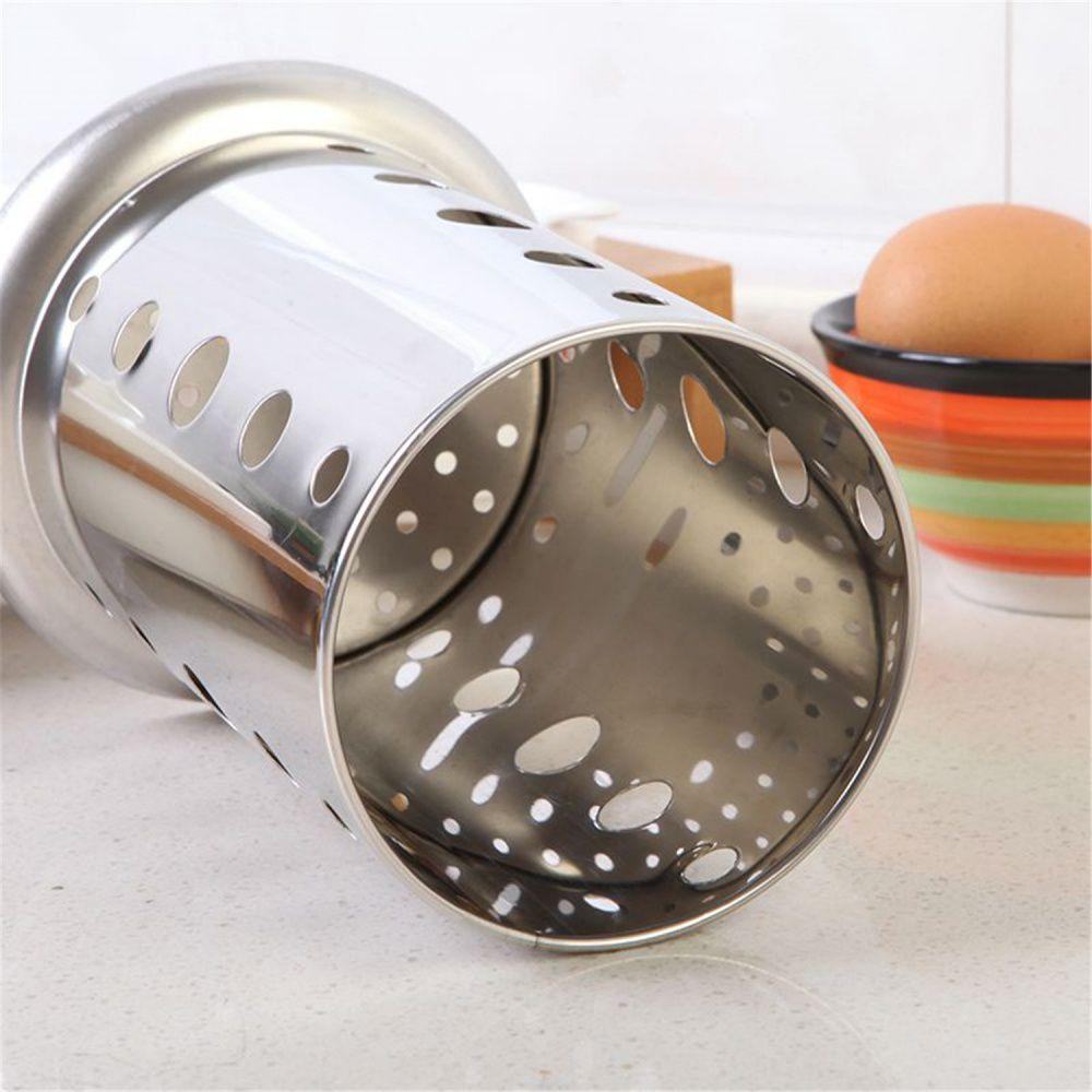 Porta Talheres Escorredor Inox Vazado Cozinha