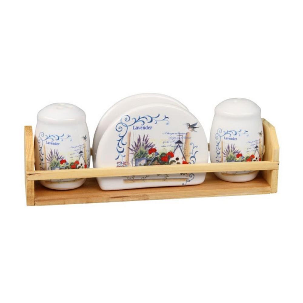 Porta Temperos De Bambu Organizador Para Cozinha Mesa