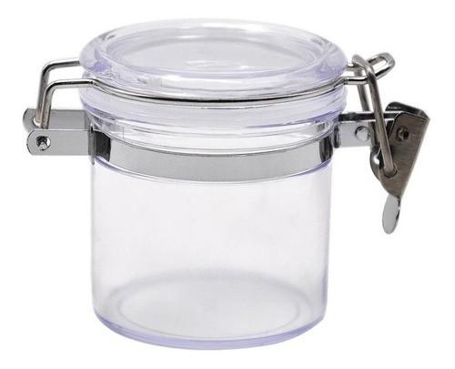 Pote Hermético De Plástico Com Tampa Cozinha Luxo 600Ml