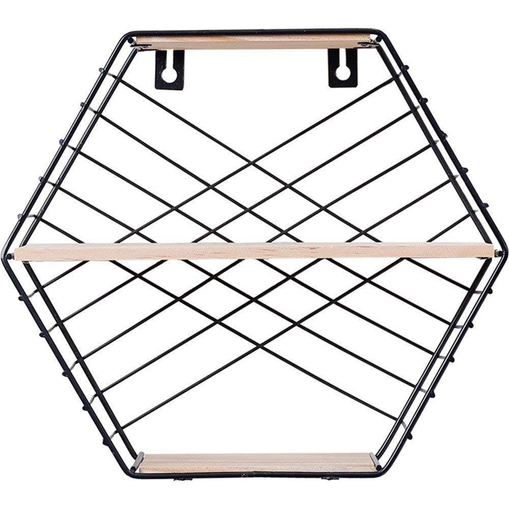 Prateleira Nicho Aramado Hexagonal Decoração Industrial 26x29