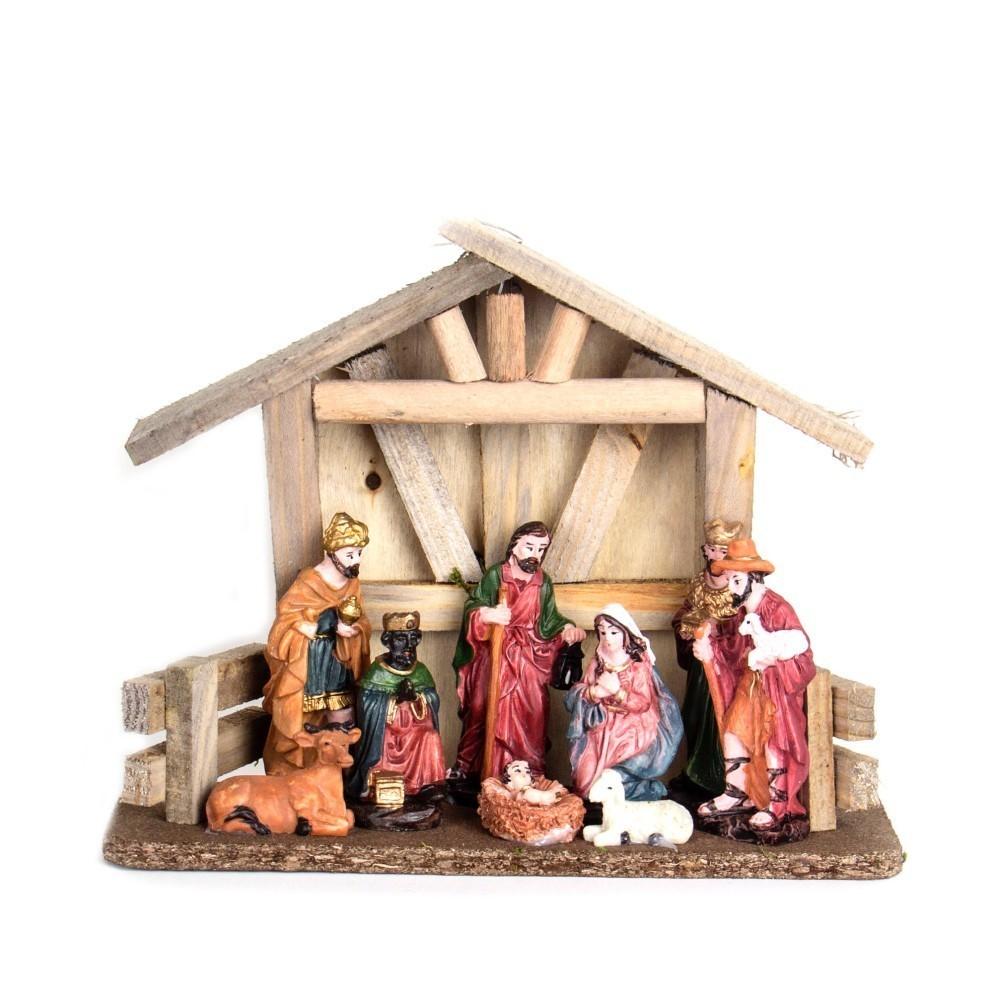 Presépio Enfeite Decorativo Resina Decoração De Natal