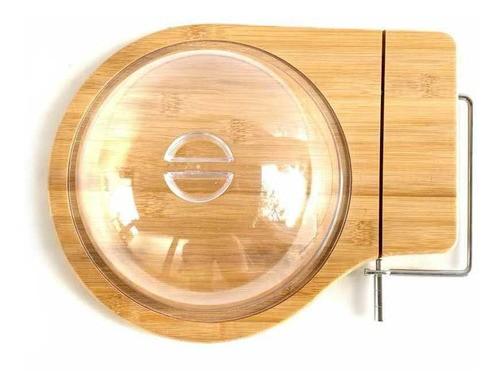 Queijeira Tábua De Bambu Para Frios Queijo Com Guilhotina