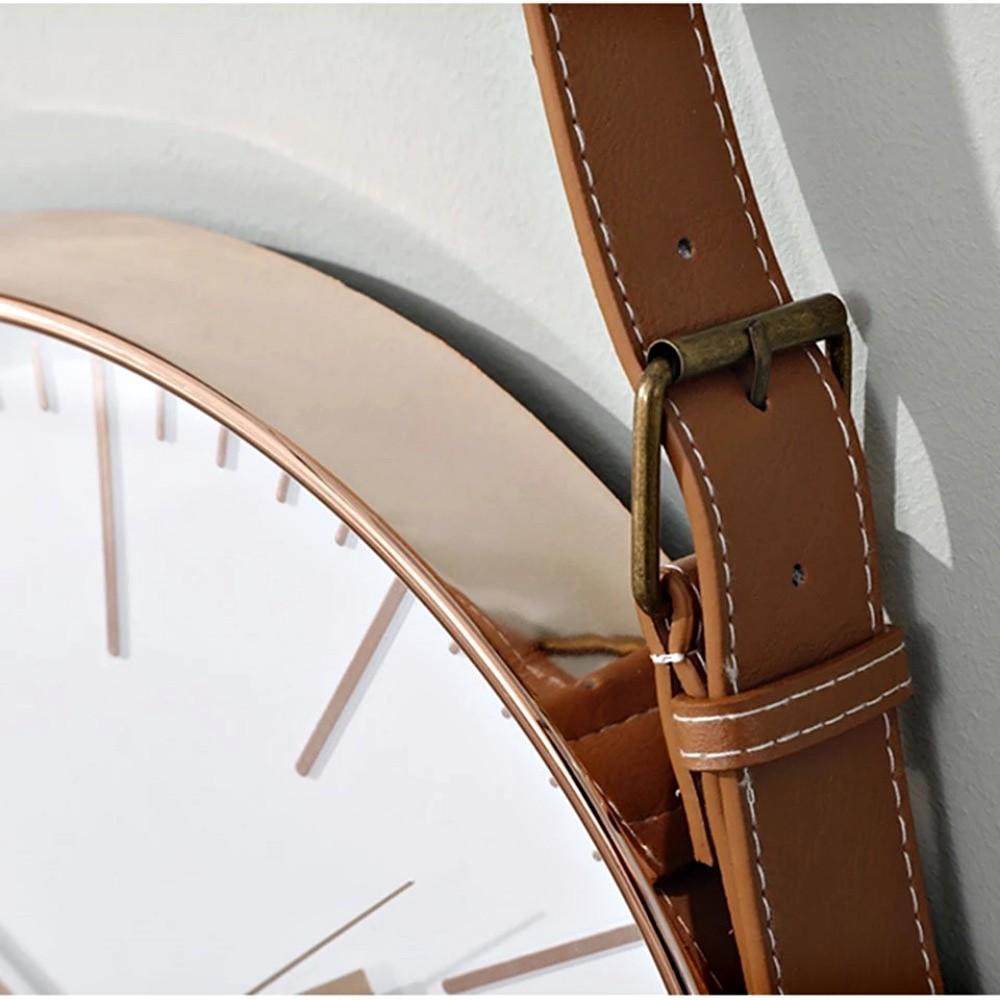 Relógio Escandinavo De Parede Ponteiro Continuo Com Alça