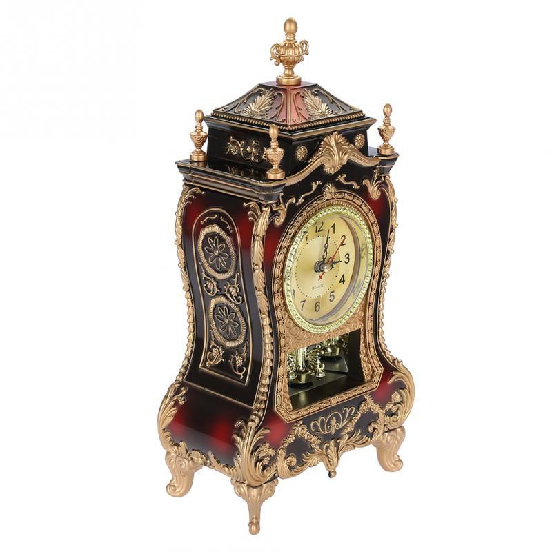 Relógio Estilo Vintage Antigo De Mesa De Plástico