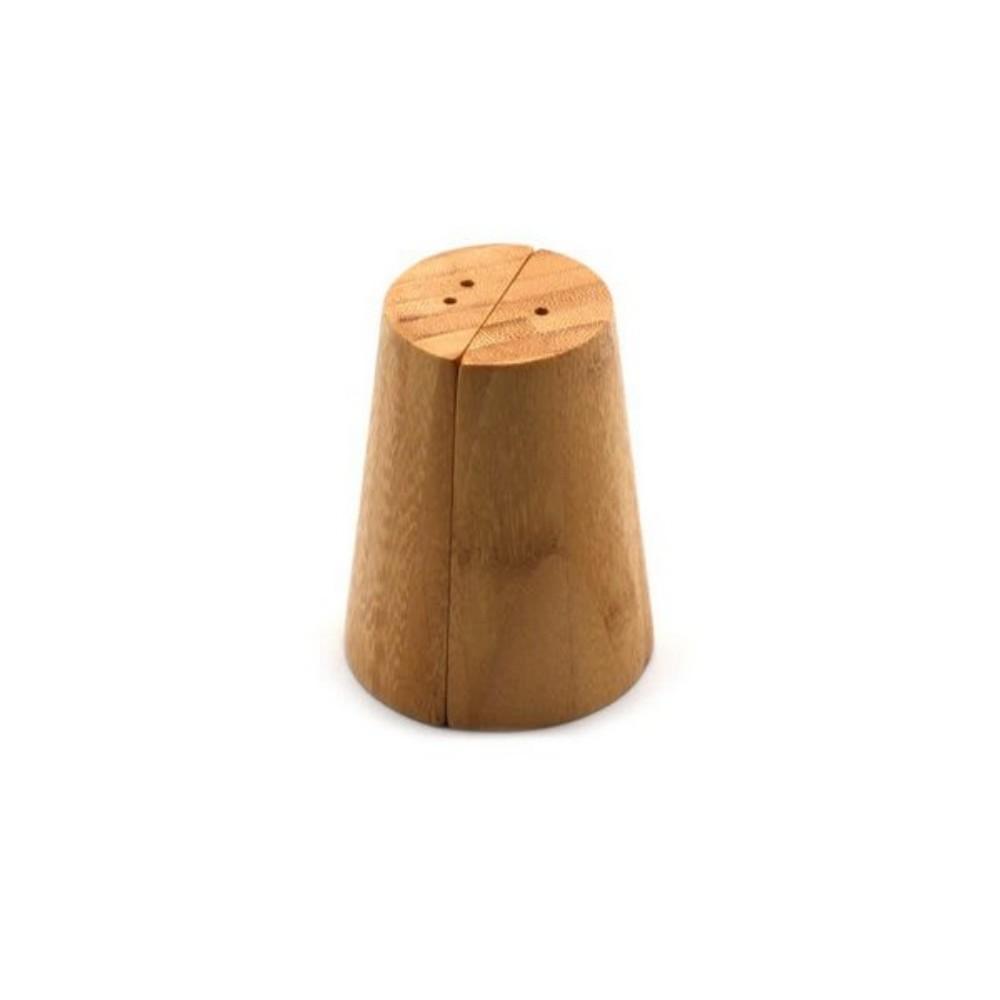 Saleiro Cônico Pimenteiro De Bambu Para Temperos Cozinha