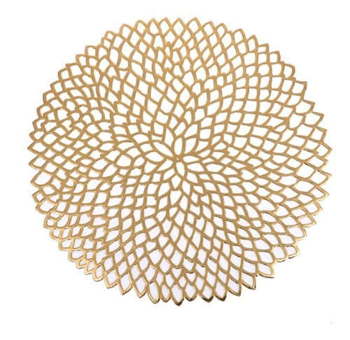 Sousplat Luxo Dourado Para Decoração Mesa Prato