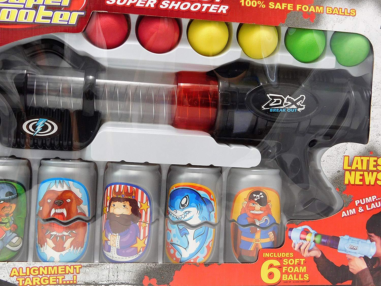 Super Arma Pistola Atira Lança Bolas Com Alvos Narf