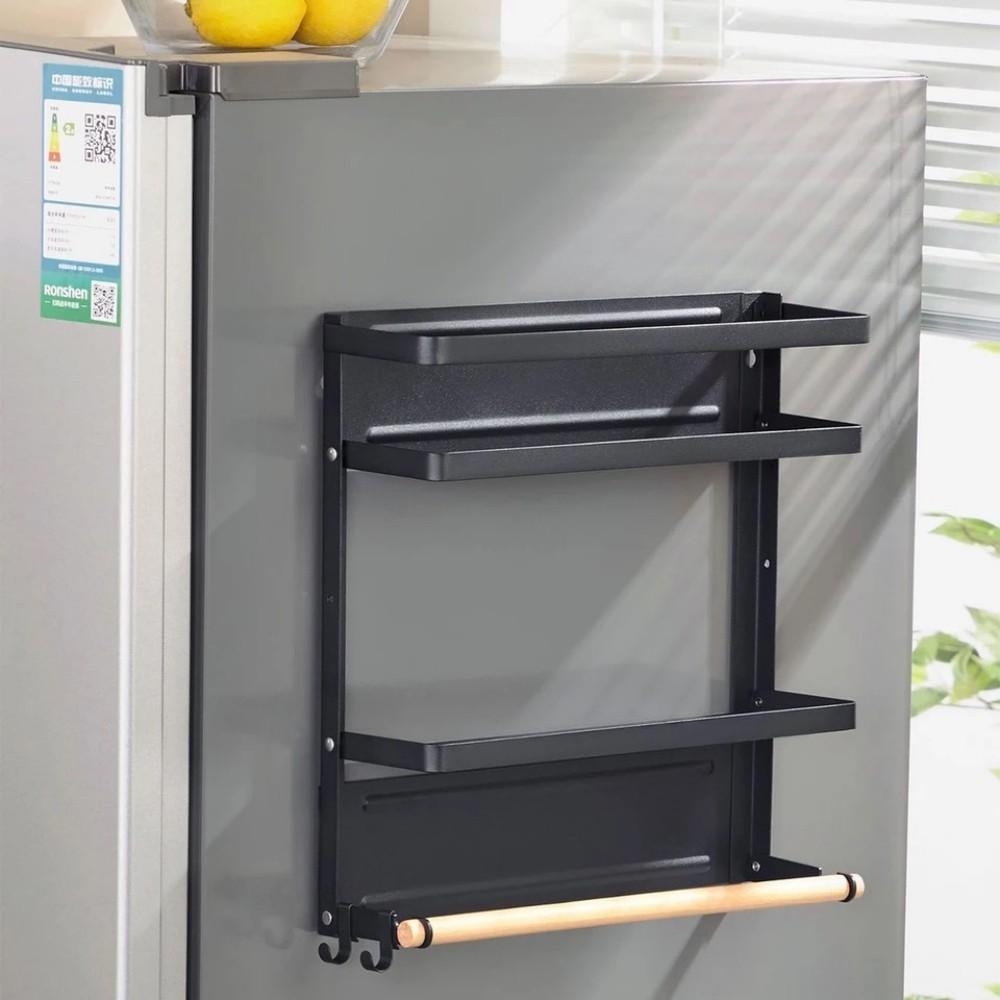 Suporte De Metal Magnético Geladeira Cozinha Porta Tempero