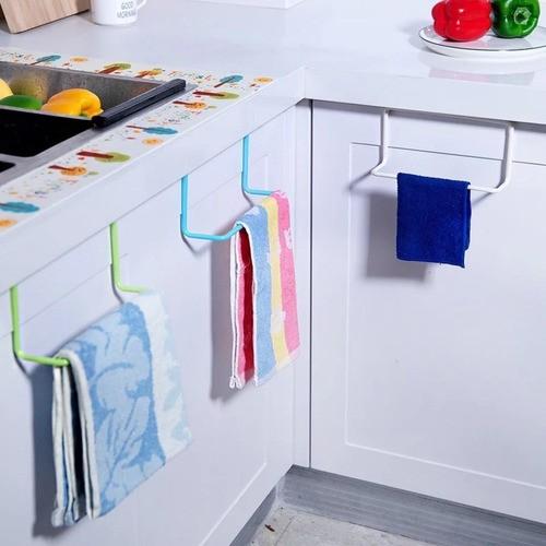 Suporte Plástico Com Encaixe Porta Toalhas Armário Branco