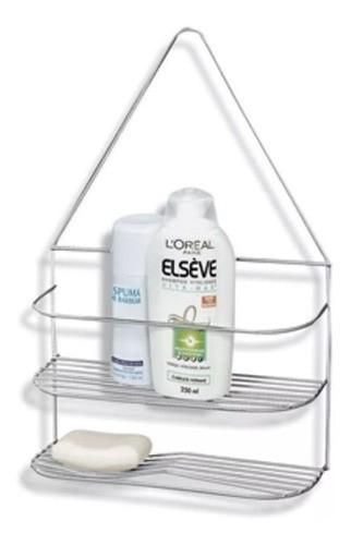 Suporte Porta Shampoo Sabonete Para Banheiro Cromado