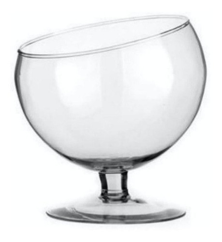 Taça Boca Torta Méd Inclinada De Vidro Bomboniere