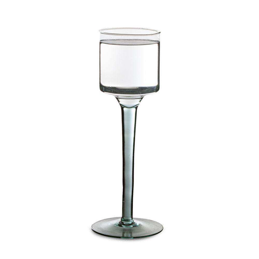 Taça Castiçal Vaso Montevideo Em Vidro Casamento Mesa